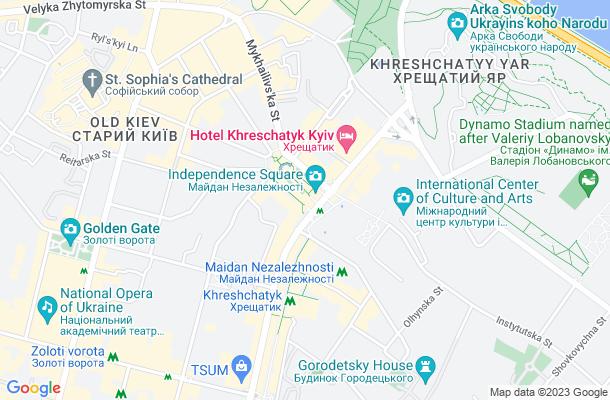 Show map of Kiev