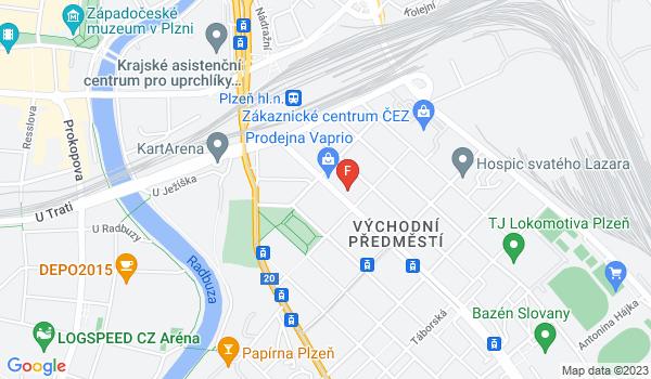 Google Map of Koterovská 20, Plzeň