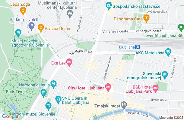 Show map of Ljubljana