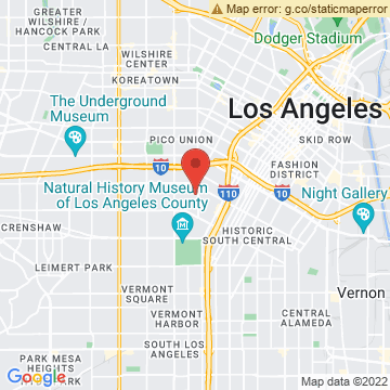 Google Map of Los Angeles, CA 90007