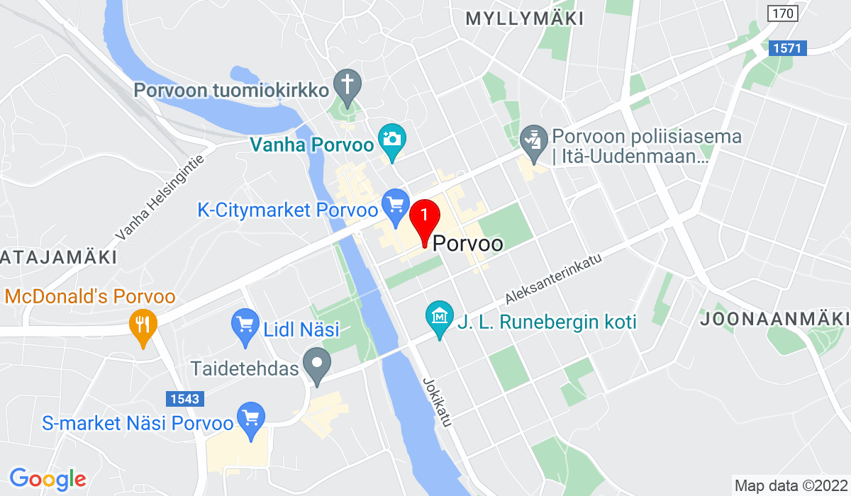 Google Map of Lundinkatu 7 06100 PORVOO