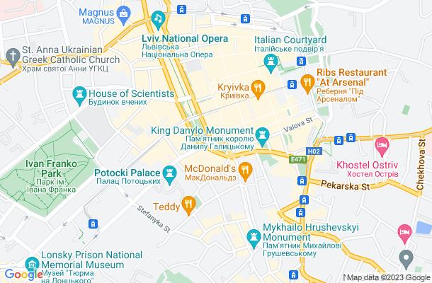 Show map of Lviv
