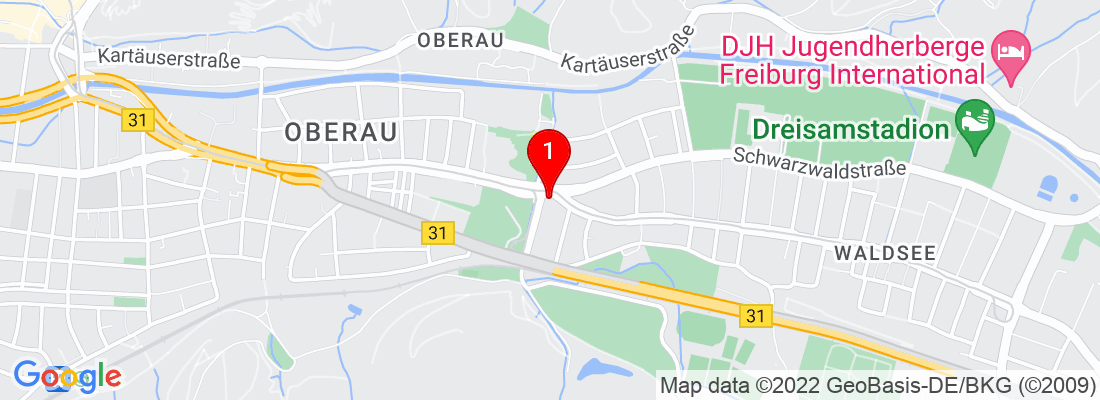 Google Map of Freiburg