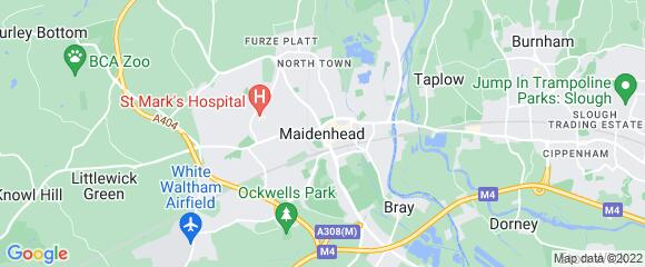 Location map for carpet fitter in Maidenhead, Berkshire, SL6