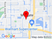 Google Map of Margate/Catherine Young Library, Park Drive, Margate, FL