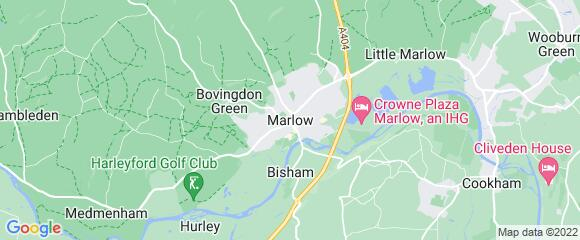 Location map for carpet fitter in Marlow, Berkshire, SL7