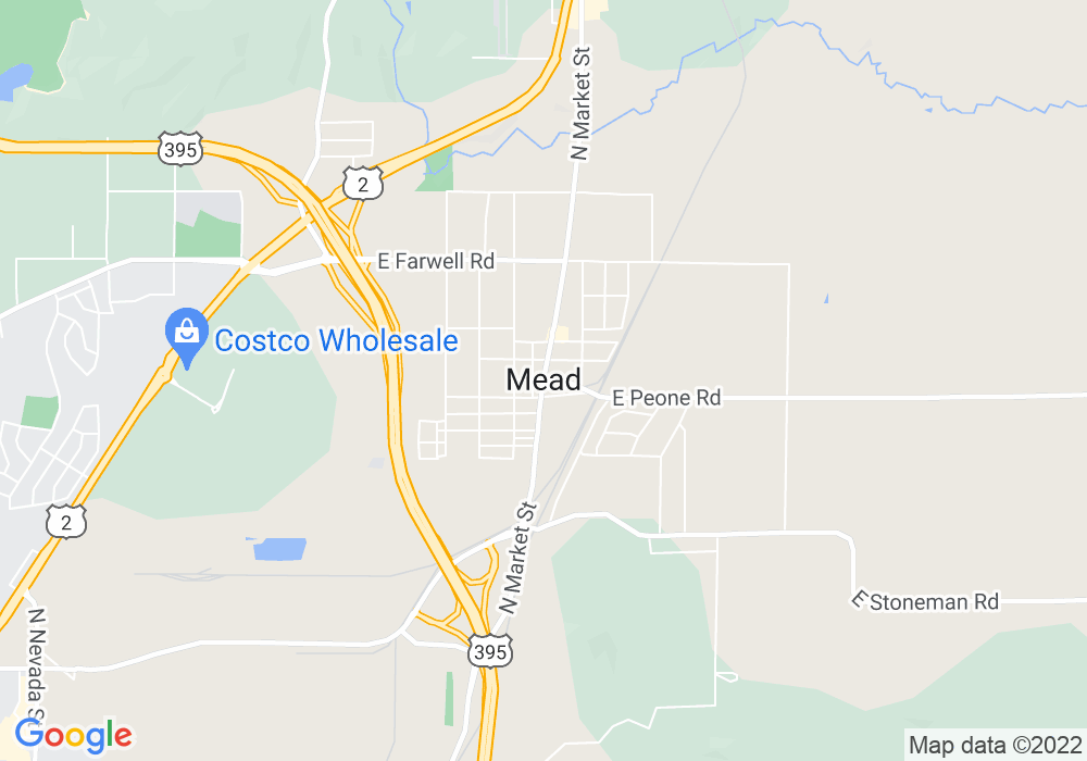 Google Map of Mead, wa