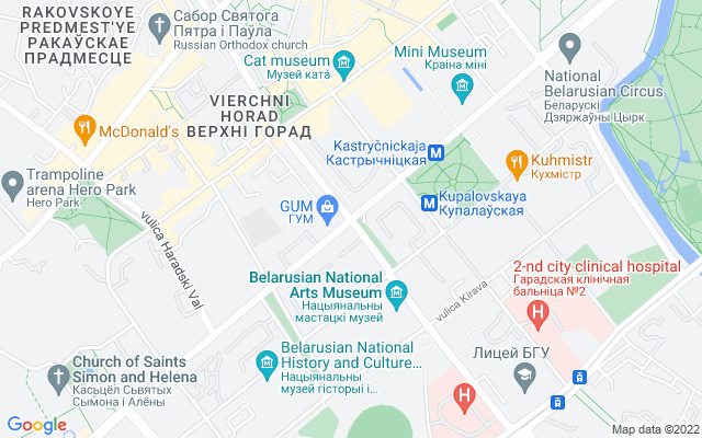 Show map of Minsk