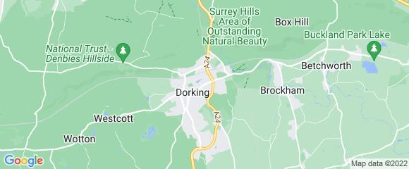 Location map for carpet fitter in Mole Valley, Surrey