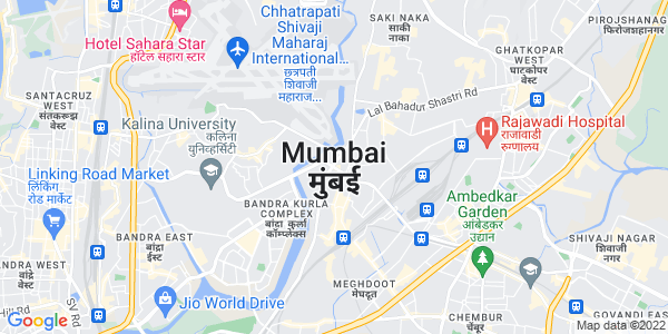 Google Map of Mumbai