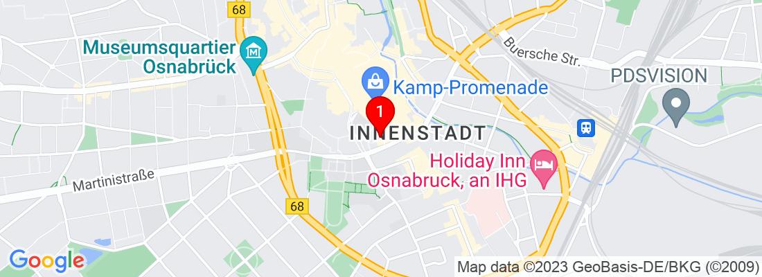 Google Map of Osnabrück