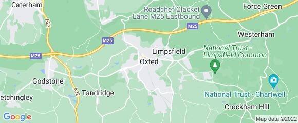 Location map for carpet fitter in Oxted, Surrey, RH8