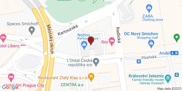 Google Map of Plzeňská 3217/16, 150 00 Praha 5