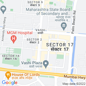 Google Map of Raikar Bhavan, Sector 17, Near Navaratna Hotel, Vashi, Navi Mumbai