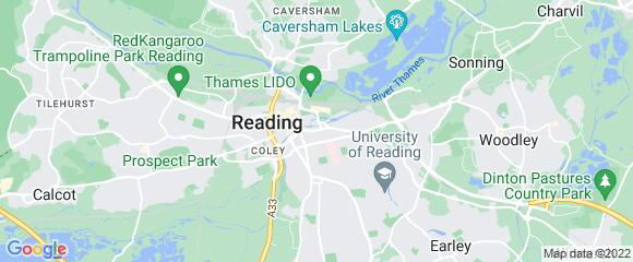 Location map for carpet fitter in Reading, Berkshire, RG1