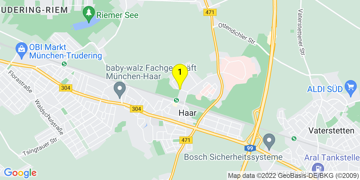 Google Map of Richard-Reitzner-Allee, Marieluise-Fleißer-Weg 85540 Haar