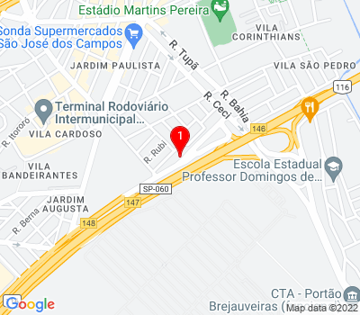 Google Map of Rua Rio Grande do Sul, 27 - Vila Sao Pedro, São José dos Campos - SP