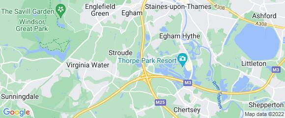 Location map for carpet fitter in Runnymede, Surrey