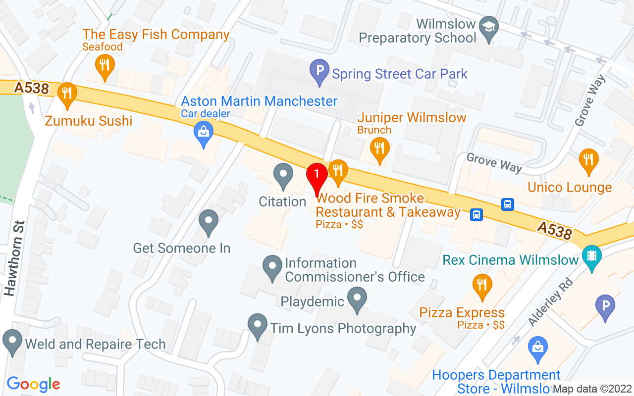 "Google Map of <span property=""streetAddress"">33 Water lane</span>,<br>