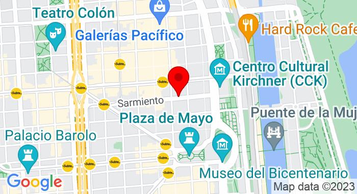 Google Map of Sarmiento 459, Ciudad Autónoma de Buenos Aires, Autonomous City of Buenos Aires