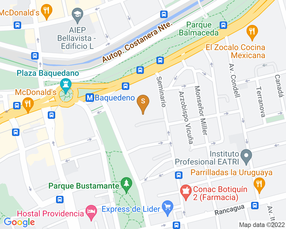 Google Map of Seminario 31, Providencia
