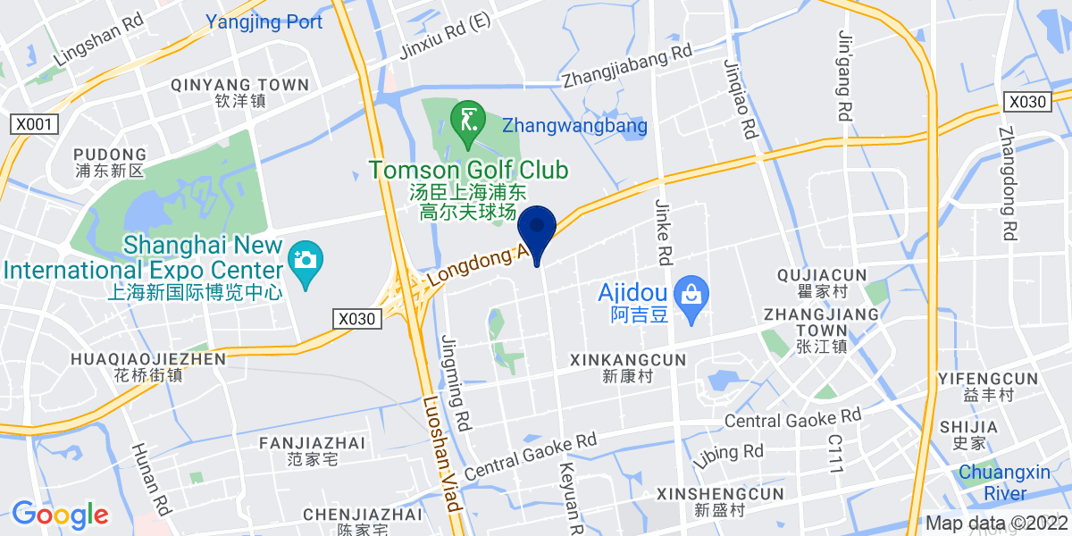 Google Map of Shanghai German Center No. 88 Keyuan Rd. Pudong