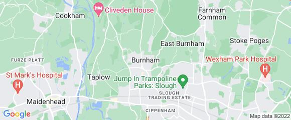 Location map for carpet fitter in Slough, Berkshire, SL1