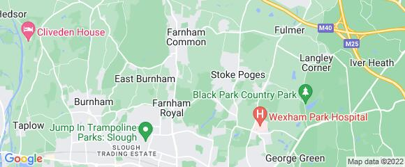 Location map for carpet fitter in Slough, Berkshire, SL2