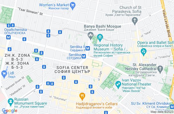 Show map of Sofia