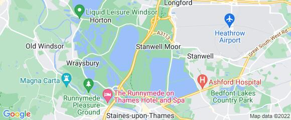 Location map for carpet fitter in Staines, Surrey, TW19
