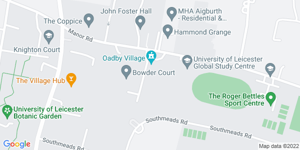 Static map of Stamford Court Gilbert Murray Stamford, 18 Manor Rd, Oadby, Leicester LE2 2LH, provided by Google