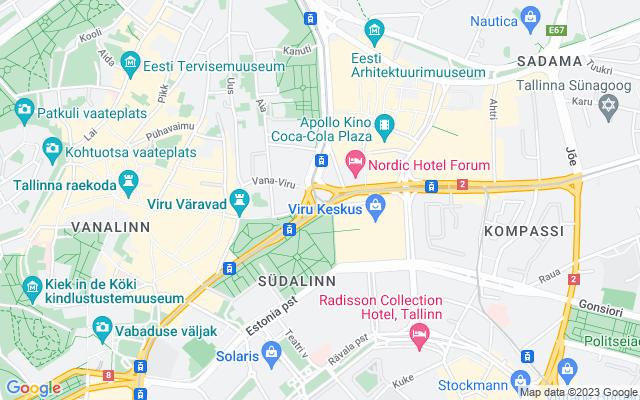 Show map of Tallinn