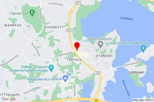 Google Map of Tekniikantie 14