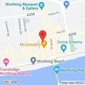 Location of Cloud Gallery - Worthing