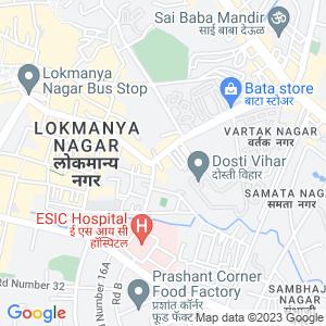 Google Map of Vartak Nagar,Pokhran Road No 1,Thane