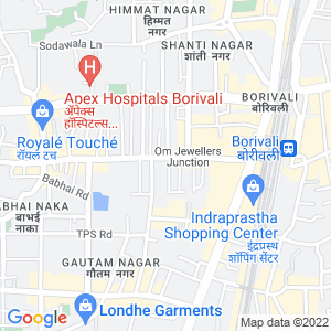 Google Map of Vini Elegance, Above Tanishq, LT Road, Borivali West, Mumbai