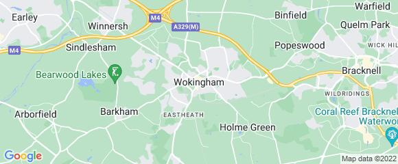 Location map for carpet fitter in Wokingham, Berkshire, RG40