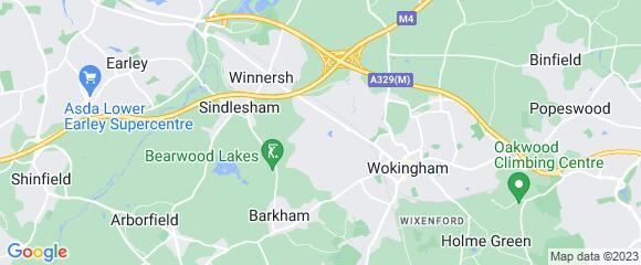 Location map for carpet fitter in Wokingham, Berkshire, RG41