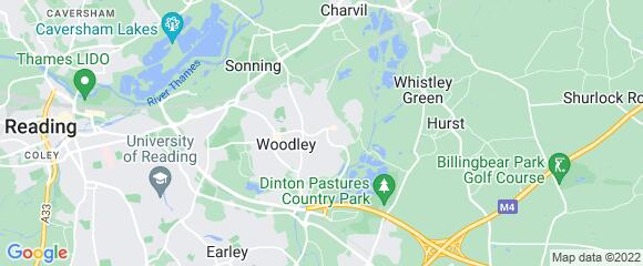 Location map for carpet fitter in Woodley, Berkshire, RG5