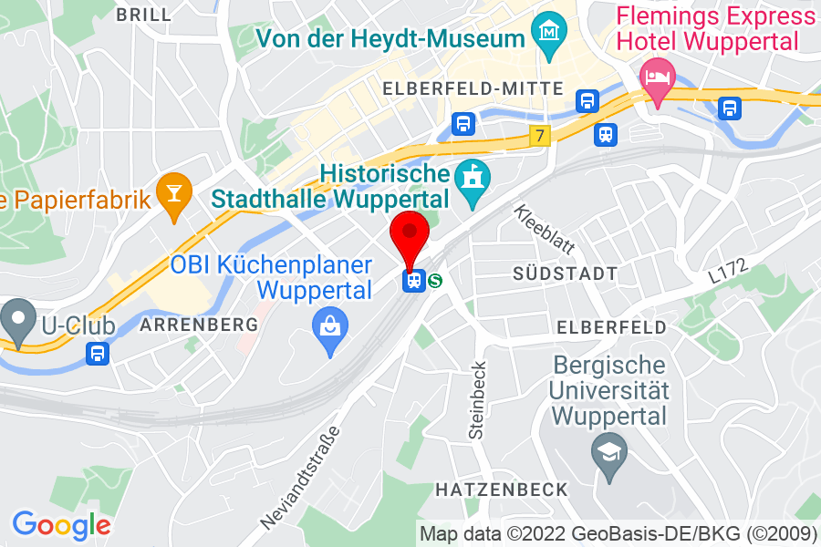 Goolge Map of Wuppertal, Hoeftstr.4