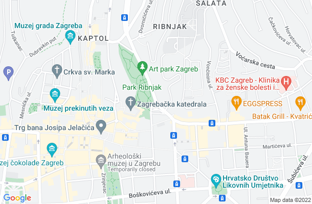 Show map of Zagreb