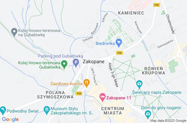 Show map of Zakopane