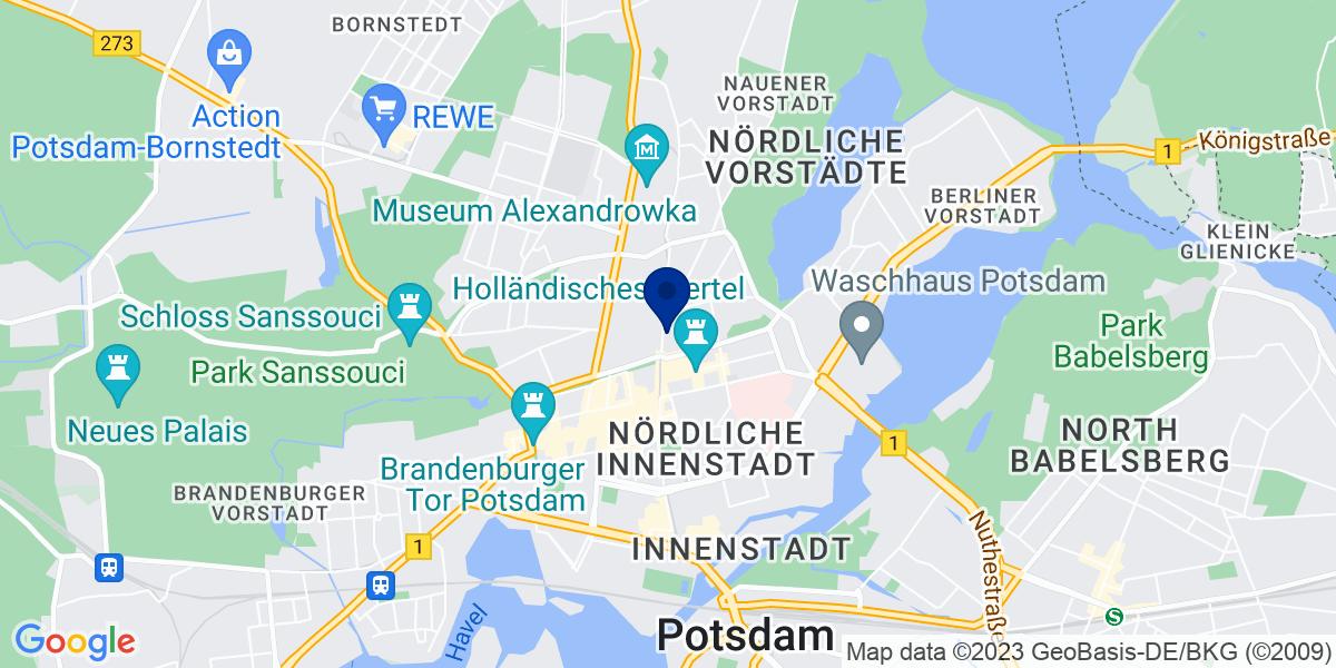 Google Map of bdp Potsdam, Friedrich-Ebert-Str. 36 14469 Potsdam
