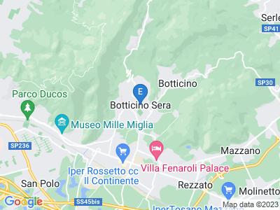 Google Map of botticino sera via cavour