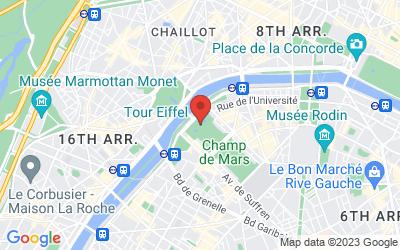 Lage - Eiffelturm von Paris