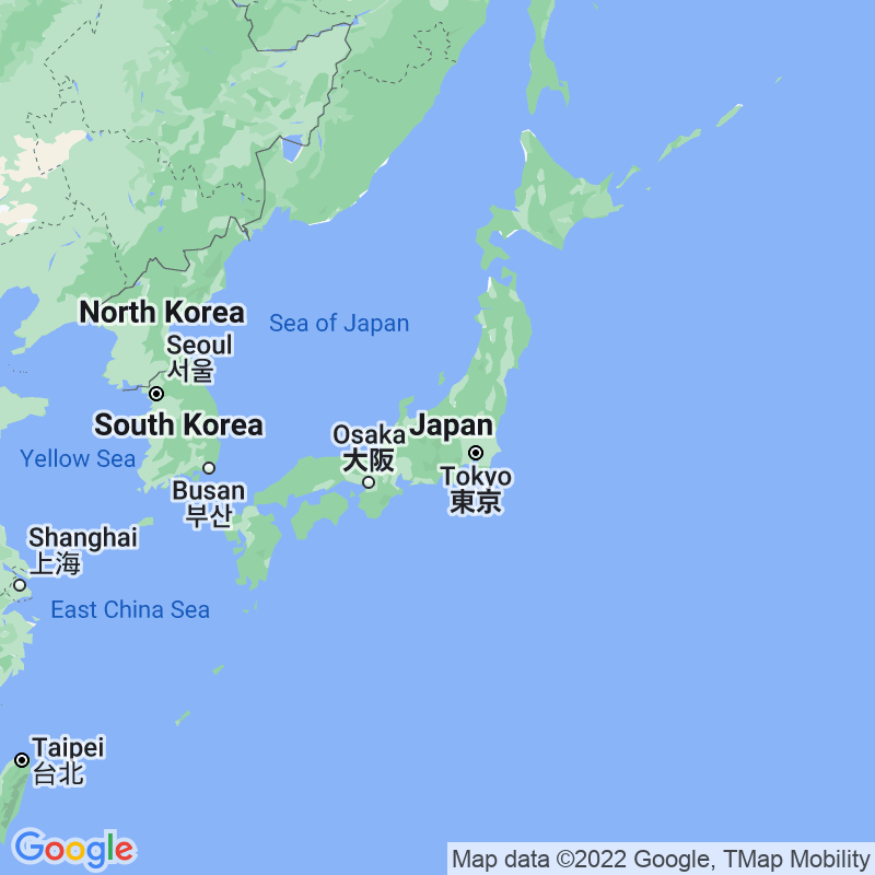 Google Map of japan