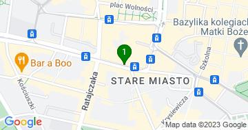 Google Map of ul. Św. Marcin 28, poznań