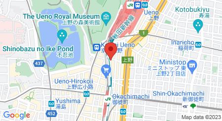 肉バル×イタリアン GABB86 上野店|地図