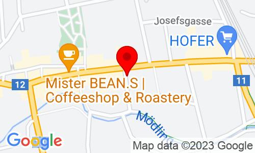Google Map of Consequent GmbH - Hauptstraße 39, 2340 Mödling, Österreich