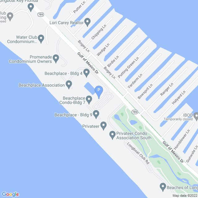 Property Map for 1109 Gulf of Mexico Drive, Longboat Key, Florida 34228